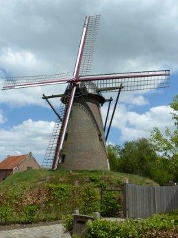 Foto van Heimeulen<br />Heimolen<br />Molen van Mertens, Meerle (Hoogstraten), Foto: Ton Slings, Heerlen, 09.05.2013 | Database Belgische molens