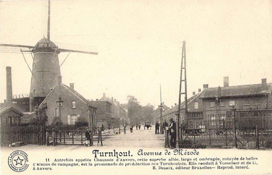 Foto van <p>Lokerenmolen<br />Lokermolen</p>, Turnhout, Prentkaart ed. Desaix, Brussel (coll. D. Vandenbulcke, Staden) | Database Belgische molens