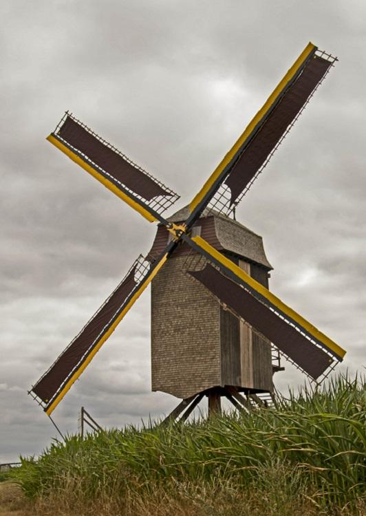 Foto van Windekemolen<br />Molen De Visscher<br />Vissersmolen, Balegem (Oosterzele), Foto: Jo Bracke (Meerbeke), 10.07.2018   Database Belgische molens