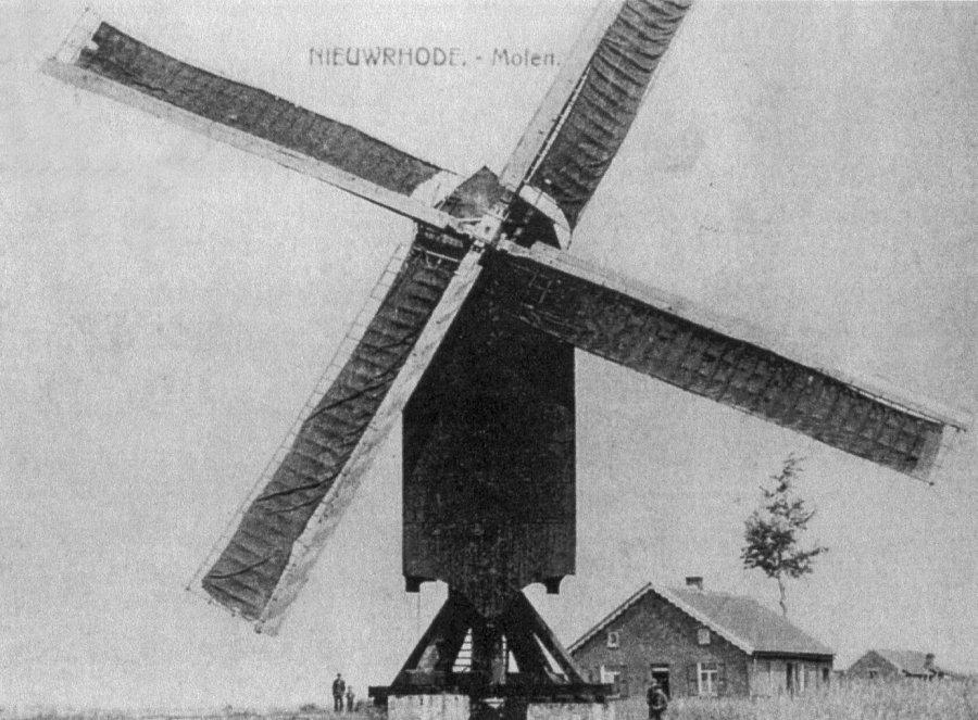 Foto van <p>Bogaardebergmolen<br />Molen Blockx</p>, Nieuwrode (Holsbeek), Prentkaart voor 1914. Verzameling Ons Molenheem | Database Belgische molens