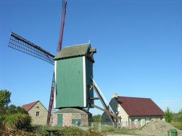 Foto van Markeymolen, Pollinkhove (Lo-Reninge), Foto: Donald Vandenbulcke,  Nieuwpoort   Database Belgische molens
